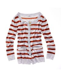 Madewell | White Striped Gardengate Cardigan | Lyst