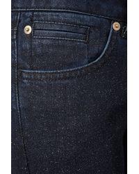 TOPSHOP | Blue Glitter Spray Baxter Classic Skinny Jeans | Lyst