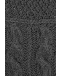 Pringle of Scotland Gray Cable-knit Wool and Angora-blend Sweater