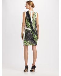 Pringle of Scotland | Green Splash Print Drape Dress | Lyst