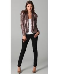 Rebecca Minkoff | Pink Becky Sequined Jacket | Lyst