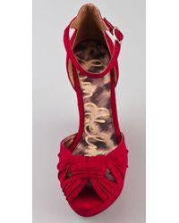 Sam Edelman - Red Qiana Wedge Sandals - Lyst