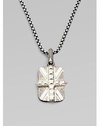 Stephen Webster | Metallic Cross Union Jack Necklace for Men | Lyst