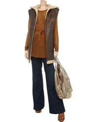 SuperTrash Brown Banio Sheer Chiffon and Jersey Shirt