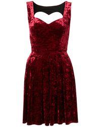 TOPSHOP Purple Velvet Heart Back Prom Dress By Dress Up