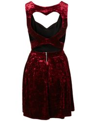TOPSHOP | Purple Velvet Heart Back Prom Dress By Dress Up | Lyst
