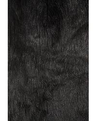 TOPSHOP - Black Knitted Faux Fur Trim Cardigan - Lyst