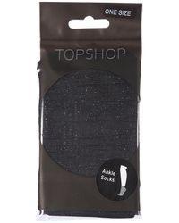 TOPSHOP | Black Lurex Ankle Socks | Lyst