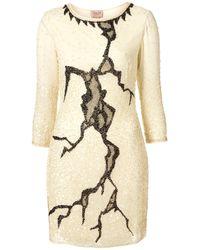 TOPSHOP Natural Lightning Crackle Dress By Dress Up
