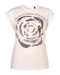 TOPSHOP | White Whale Print Tee By Tee and Cake | Lyst