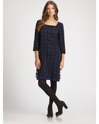 Tory Burch | Black Farren Woven Dress | Lyst