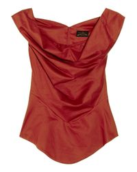 Vivienne Westwood Anglomania | Red Marghi Cotton Off-the-shoulder Blouse | Lyst