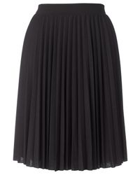 Whistles Eliza Jersey Pleat Skirt Black