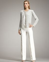 Armani | White Straight-leg Linen Trousers | Lyst