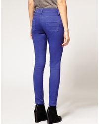 ASOS Collection - Asos Petite Liberty Blue Skinny Jeans - Lyst