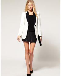 ASOS Collection - White Asos Petite Exclusive Tuxedo Blazer - Lyst
