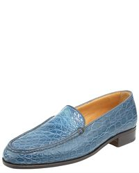Gravati   Blue Croc-embossed Loafer   Lyst