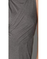 Jarbo | Gray Sleeveless Dress with Ruching | Lyst