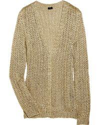 JOSEPH | Metallic Open-knit Cardigan | Lyst