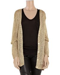 JOSEPH - Metallic Open-knit Cardigan - Lyst