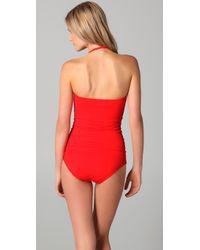 Juicy Couture - Red Miss Divine Bandeau Swim Dress - Lyst