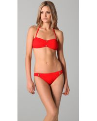 Juicy Couture - Red Miss Divine Cinched Bikini Bottoms - Lyst