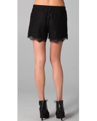 Madewell | Black Lace Shorts | Lyst