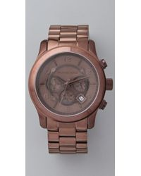 Michael Kors | Oversized Runway Watch, Brown | Lyst