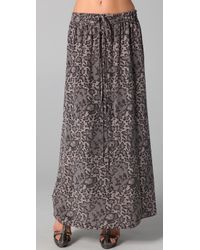 Rebecca Taylor | Black Lace Print Skirt | Lyst