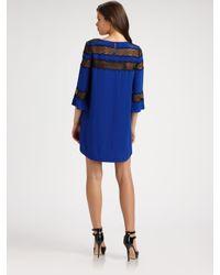 Rebecca Taylor   Blue Romantic Silk Tunic Dress   Lyst