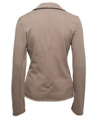 T By Alexander Wang - Gray Double-breasted Blazer - Lyst