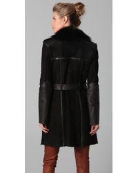 Temperley London | Black Sofia Sheepskin Coat | Lyst