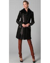 Temperley London   Black Sofia Sheepskin Coat   Lyst