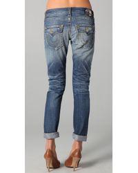 True Religion | Blue Cameron Boyfriend Jeans | Lyst