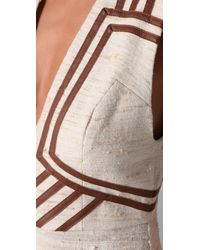 Zimmermann | Natural Calm Jumpsuit with Leather Trim | Lyst