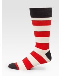 Marc By Marc Jacobs | Red Striped Socks for Men | Lyst