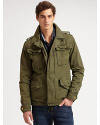 Scotch & Soda - Green Convertible Military Jacket for Men - Lyst