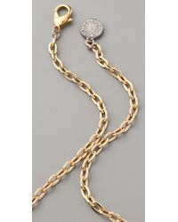 Gemma Redux - Metallic Onyx and Chain Necklace - Lyst
