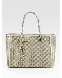 Gucci | Metallic Bella Medium Tote Bag | Lyst