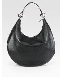 Gucci | Black Gg Twins Sima Large Hobo | Lyst