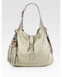 Gucci | New Jackie Medium Metallic Leather Bag | Lyst