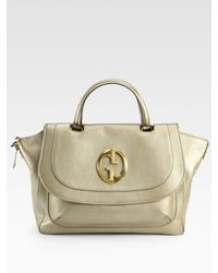 Gucci | Metallic Medium Top Zip Bag | Lyst