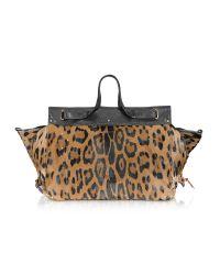 Jérôme Dreyfuss | Multicolor Carlos - Leopard Print Leather Tote | Lyst