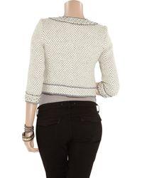 Juicy Couture Gray Embellished Wool-blend Tweed Jacket