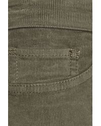 Juicy Couture Green Corduroy Low-rise Jean-style Leggings