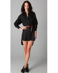 Kelly Bergin - Black Silk Shirtdress - Lyst