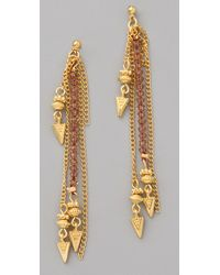Shashi - Metallic Dessa Earrings - Lyst