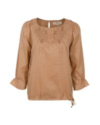 Vanessa Bruno Athé | Natural Embroidered Neck Top | Lyst