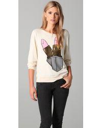 Wildfox | White Beach Sweatshirt with Brigitte Lipstick Graphic | Lyst