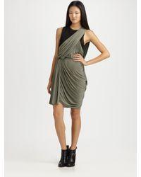 Alexander Wang   Gray Asymmetrical Draped Dress   Lyst
